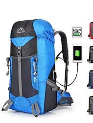 cheap -45 L Hiking Backpack Rain Waterproof Quick Dry Wear Resistance High Capacity Outdoor Hiking Camping Travel Nylon Blue Burgundy Dark Navy
