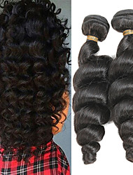 cheap -2 Bundles Indian Hair Loose Wave Remy Human Hair Human Hair Extensions 10-26 inch Human Hair Weaves Soft Best Quality New Arrival Human Hair Extensions / 10A