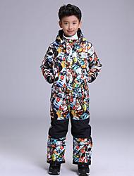 cheap -GSOU SNOW Boys' Ski Jacket with Pants Waterproof Windproof Warm Ski / Snowboard Winter Sports POLY Clothing Suit Ski Wear / Kid's