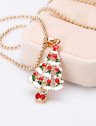 cheap -Women's Girls' Charm Necklace Classic Precious Christmas Tree Fashion Gold Plated Chrome Rainbow 45 cm Necklace Jewelry 1pc For Christmas Halloween Party Evening Gift Festival