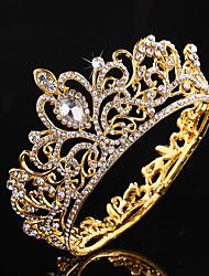 cheap -Alloy Tiaras / Headpiece with Crystals / Rhinestones 1 Piece Wedding Headpiece