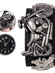 cheap -Men's Wrist Watch Digital Skull Casual Watch Analog Black / Genuine Leather / Genuine Leather