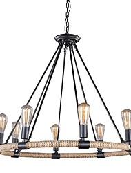 abordables -bougie de style chandelier corde de chanvre lumière ambiante peint finitions métal style de bougie 110-120v / 220-240v / e26 / e27