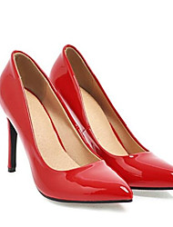 cheap -Women's Heels Stiletto Heel PU Spring Black / White / Yellow / Daily