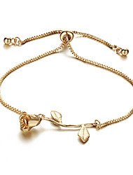 cheap -Women's Bracelet Stylish Flower Shape Ladies Sweet Cute Alloy Bracelet Jewelry Gold / Silver / Rose Gold For Gift Date