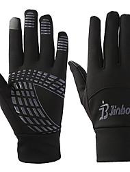 Недорогие -Перчатки для велосипедистов Лыжные перчатки Перчатки для сенсорного экрана Муж. Жен. Снежные виды спорта Полный палец Сохраняет тепло холст Катание на лыжах