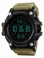cheap -SKMEI Men's Sport Watch Digital Watch Digital Digital Luxury Water Resistant / Waterproof Calendar / date / day Dual Time Zones / Quilted PU Leather
