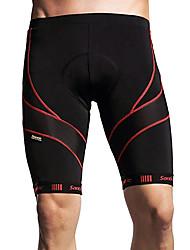cheap -SANTIC Men's Cycling Padded Shorts Black Stripes Bike Shorts Padded Shorts / Chamois Pants Breathable 3D Pad Quick Dry Sports Polyester Spandex Coolmax® Mountain Bike MTB Road Bike Cycling Clothing