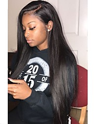 cheap -Remy Human Hair Full Lace Wig Layered Haircut Kardashian style Brazilian Hair Silky Straight Black Wig 130% Density with Baby Hair Natural Hairline For Black Women 100% Hand Tied Women's Long Human