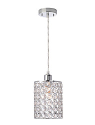 cheap -1-Light Modern Mini Crystal Pendant Lights Electroplated Chrome Bedroom Hallway Kids Room Entry Light E26/E27 Bulb Base