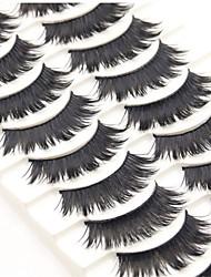 abordables -Cil 20 pcs Pro Naturel Bouclé Fibre Usage quotidien Entraînement Longs Naturels - Maquillage Maquillage Quotidien Maquillage d'Halloween Maquillage de Fête Professionnel Cosmétique Accessoires de