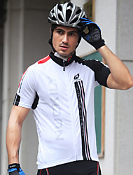 cheap -Nuckily Men's Short Sleeve Cycling Jersey Black and White Patchwork Bike Jersey Top Mountain Bike MTB Road Bike Cycling Breathable Quick Dry Sports Clothing Apparel / Advanced / Advanced