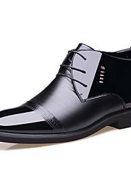 """Недорогие -Муж. Официальная обувь Кожа / Лакированная кожа Наступила зима На каждый день / Стиль """"Школьная форма"""" Туфли на шнуровке Доказательство износа Черный / Кожаные ботинки"""