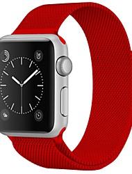 Недорогие -Нержавеющая сталь Ремешок для часов Ремень для Apple Watch Series 4/3/2/1 Красный / Коричневый / Зеленый 23см / 9 дюйма 2.1cm / 0.83 дюймы