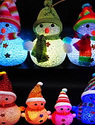 Недорогие -снеговик вел ночное пребывание прелестные батареи aa приведенные в действие 1pc