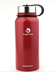 cheap -Jungle King Camping Cup 0.8 L Heat Retaining for Stainless steel Outdoor Camping Black Red Green