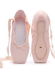 cheap -Women's / Girls' Dance Shoes Canvas Ballet Shoes Flat Flat Heel Customizable Pink / White / Performance / Practice
