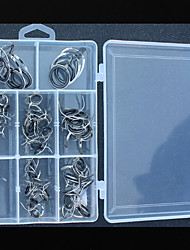 cheap -Fishing Tackle Box Fishing Rod Guides Fishing Snaps & Swivels Stainless Steel / Iron Wear-Resistant Easy to Use Sea Fishing Spinning Freshwater Fishing Carp Fishing Fishing Apparel & Accessories