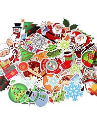 cheap -100 Pcs/Pack Classic Fashion Christmas Style Graffiti Stickers For Moto Car & Suitcase Cool Laptop Stickers Skateboard Sticker