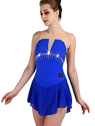 cheap -Figure Skating Dress Women's Girls' Ice Skating Dress Royal Blue High Elasticity Training Competition Skating Wear Quick Dry Anatomic Design Classic Sexy Sleeveless Ice Skating Outdoor Exercise