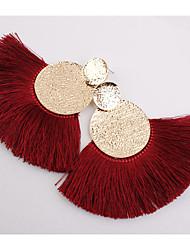 cheap -Women's Drop Earrings fan earrings Raffia Earrings Tassel Ladies Geometric European Fashion Elegant Earrings Jewelry Pink / Wine / Light Green For Causal Daily 1 Pair