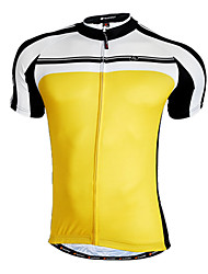 cheap -Nuckily Men's Short Sleeve Cycling Jersey Yellow Red Blue Patchwork Bike Jersey Top Mountain Bike MTB Road Bike Cycling Breathable Quick Dry Sports Clothing Apparel / Advanced / Advanced / SBS Zipper