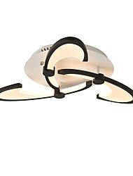 cheap -3-Heads Modern Style Simplicity Acrylic LED Ceiling Lamp Bending Hook Design Flush Mount Living Room Dining Room Light Fixture