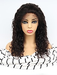 cheap -Unprocessed Human Hair Lace Front Wig Middle Part style Brazilian Hair Curly Black Wig 130% Density with Baby Hair Women Easy dressing Natural Hairline Comfy Women's Long Human Hair Lace Wig Factory
