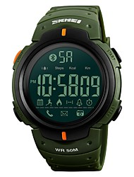 cheap -SKMEI Men's Sport Watch Military Watch Digital Watch Digital Silicone Black / Green 50 m Water Resistant / Waterproof Bluetooth Calendar / date / day Digital Luxury Casual - Black Green / Chronograph