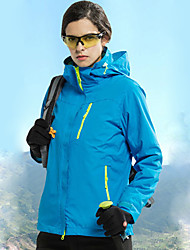 cheap -Women's Hiking 3-in-1 Jackets Hiking Jacket Winter Outdoor Waterproof Windproof Breathable Warm Jacket 3-in-1 Jacket Full Length Visible Zipper Camping / Hiking Ski / Snowboard Climbing Black / Sky