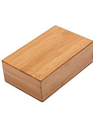 cheap -Yoga Block 1 pcs 23*15*7.5 cm High Density Bamboo For Yoga Fitness Gym Workout Wood Unisex