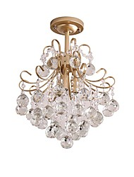cheap -3-Light Mini Chandelier Ambient Light Painted Finishes Metal Crystal 110-120V / 220-240V Bulb Not Included / FCC