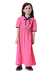 cheap -Kids Girls' Boho Daily Color Block Short Sleeve Maxi Dress Light Green