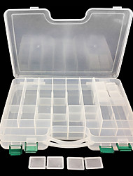 abordables -Boîte à appâts Boîte à appâts Facile à transporter 2 Plateaux Plastique / Pêche en mer / Pêche à la mouche / Pêche d'appât / Pêche sur glace / Pêche aux spinnerbaits