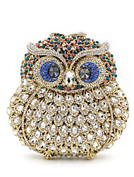 cheap -Women's Bags Alloy Clutch Crystals Hollow-out Animal Wedding Bags Wedding Party Event / Party Black Navy Blue Gold Silver