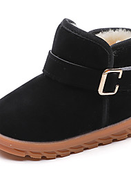 cheap -Boys' / Girls' Comfort / Snow Boots PU Boots Walking Shoes Buckle / Split Joint Black / Light Brown / Red Spring & Summer / Booties / Ankle Boots
