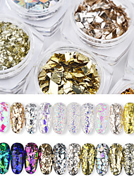 cheap -1 pcs Mini Style / Color Gradient / Best Quality Eco-friendly Material Glitter Powder Sequins For Finger Nail Romantic Series Rainbow nail art Manicure Pedicure Christmas / Halloween / Prom Artistic