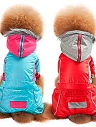 cheap -Dogs Cats Coat Winter Dog Clothes Red Blue Costume Pug Bichon Frise Schnauzer Terylene Solid Colored Casual / Daily Warm Ups S M L XL XXL