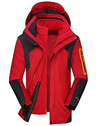 cheap -Women's Hoodie Jacket Hiking 3-in-1 Jackets Hiking Jacket Winter Outdoor Thermal / Warm Windproof Breathable Rain Waterproof Jacket Top Single Slider Camping / Hiking Hunting Ski / Snowboard Sky Blue