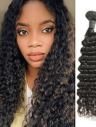 cheap -1 Bundle Brazilian Hair Deep Wave Remy Human Hair Human Hair Extensions 8-30 inch Human Hair Weaves Soft Best Quality New Arrival Human Hair Extensions / 10A