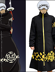 cheap -Inspired by One Piece Trafalgar Law Anime Cosplay Costumes Japanese Cosplay Suits Print Long Sleeve Coat For Men's / Women's