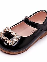 cheap -Girls' Light Soles Faux Leather Sandals Toddler(9m-4ys) Walking Shoes Sparkling Glitter Black / Light Pink Spring & Summer