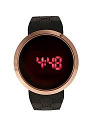 Недорогие -Для пары Наручные часы электронные часы Цифровой Стеганная ПУ кожа Черный / Белый Секундомер Творчество Фосфоресцирующий Цифровой Мода минималист - Белый Черный Один год Срок службы батареи