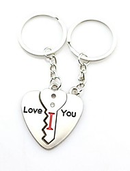 cheap -Keychain Heart Mismatch Ring Jewelry Silver For Daily