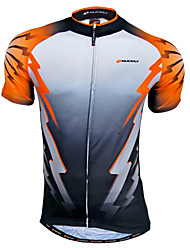 cheap -Nuckily Men's Short Sleeve Cycling Jersey Gray yellow Patchwork Bike Jersey Top Mountain Bike MTB Road Bike Cycling Breathable Quick Dry Sweat-wicking Sports Clothing Apparel / Advanced / Advanced