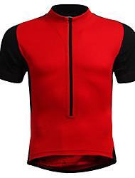 abordables -Jaggad Homme Manches Courtes Maillot Velo Cyclisme Noir Noir / Orange. Rouge Grandes Tailles Cyclisme Maillot VTT Vélo tout terrain Vélo Route Respirable Des sports Nylon Élastique Vêtement Tenue