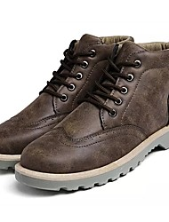 cheap -Men's Combat Boots PU Winter Boots Black / Army Green / Gray