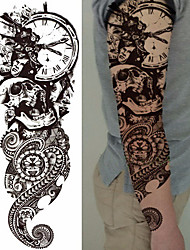 cheap -3-pcs-decal-style-temporary-tattoos-temporary-tattoos-totem-series-flower-series-smooth-sticker-eco-friendly-disposable-body-arts-body-arm-leg