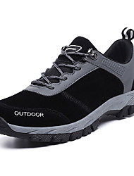 cheap -Men's Comfort Shoes PU Fall Casual Athletic Shoes Hiking Shoes Breathable Black / Gray