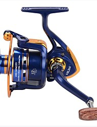cheap -Fishing Reel Spinning Reel 12 Gear Ratio+12 Ball Bearings Hand Orientation Exchangable Spinning / Freshwater Fishing / Carp Fishing / Bass Fishing / Lure Fishing / General Fishing